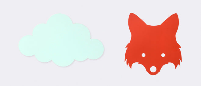 Ferm Living Cloud Lamp and Fox Lamp, published by Bobby Rabbit