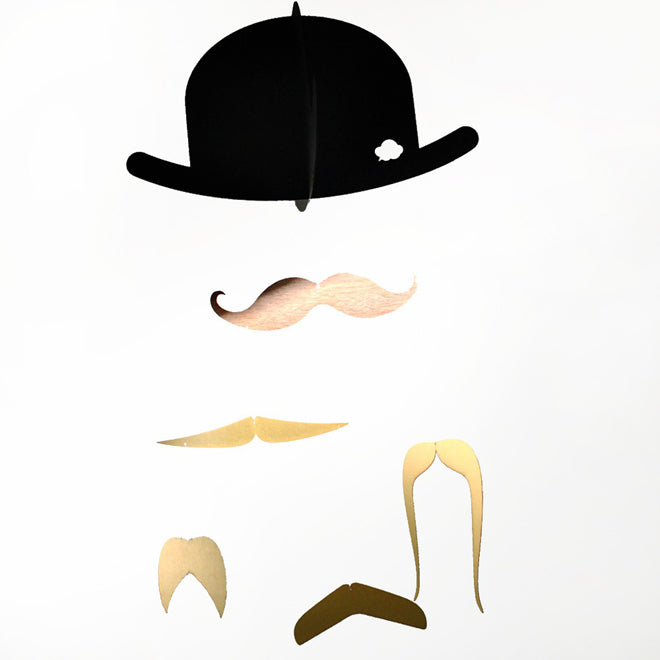 'Mr Moustache' baby mobile by Jall & Tofta, published by Bobby Rabbit