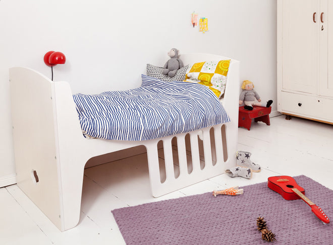 'Rocky' convertible cot bed by Jall & Tofta and available from Lullabuy, published by Bobby Rabbit