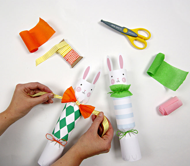 Snap cracker and pop funny bunnies make your own easter crackers set by meri meri published by solutioingenieria Gallery