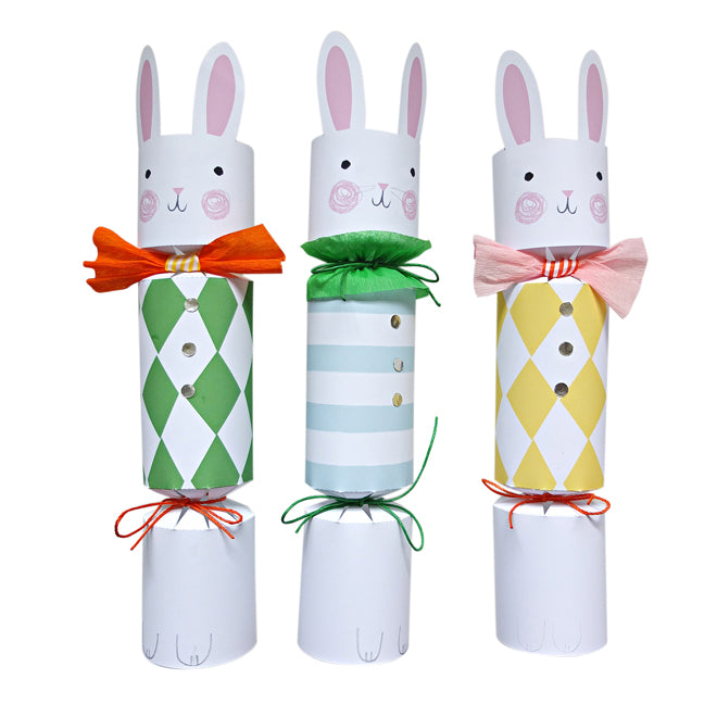 'Funny Bunnies' make your own Easter crackers set by Meri Meri, published by Bobby Rabbit
