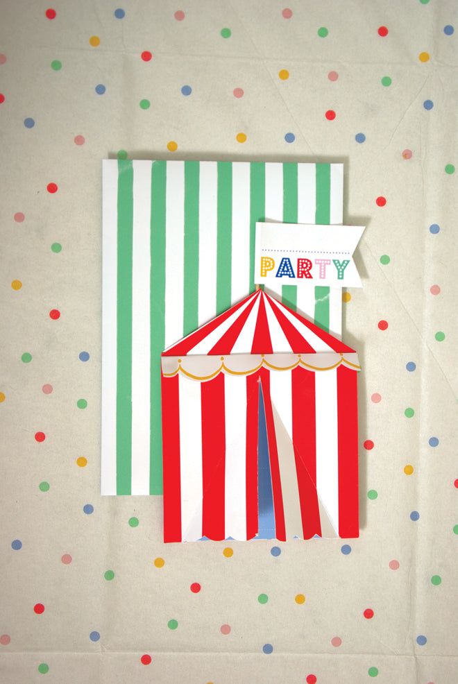 party, children's parties, children's party themes, children's fairground party, Toot Sweet party, Meri Meri, published by Bobby Rabbit