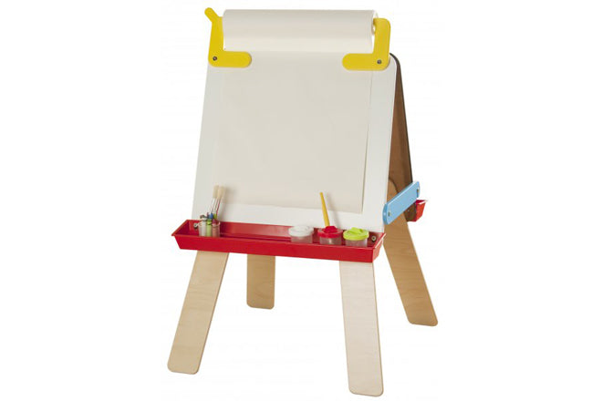 toys, wooden toys, activity toys, easels, children's blackboard easel, gifts, christmas gifts, children's birthday presents, Millhouse easel, Born to Toddle, published by Bobby Rabbit