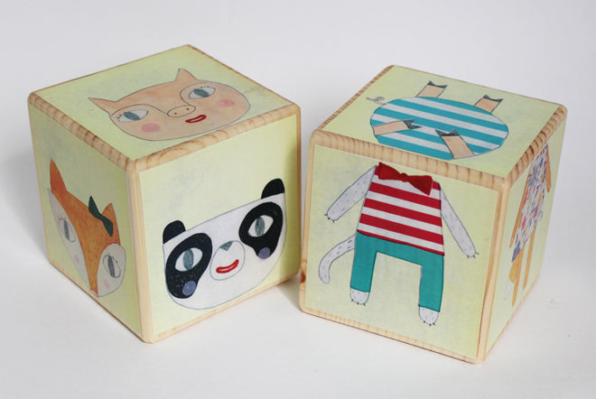 Julia Staite Mix and Match Wooden Animal Blocks from Milo & Mimi, published by Bobby Rabbit