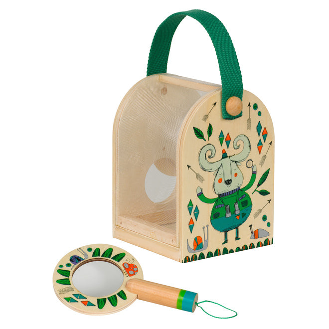 Little Thoughtful Gardener Bug Box and Magnifying Glass set for children, published by Bobby Rabbit