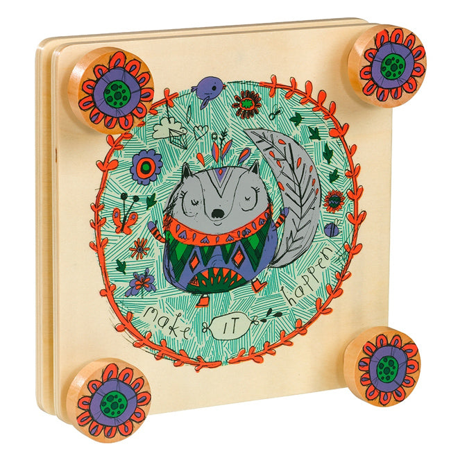 Little Thoughtful Gardener Wooden Flower Press for children, published by Bobby Rabbit