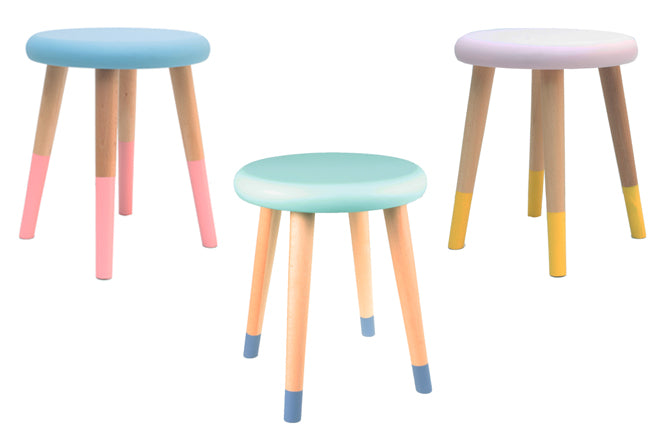 'Alice' stools for children, designed by Rose in April and available from Molly-Meg, published by Bobby Rabbit