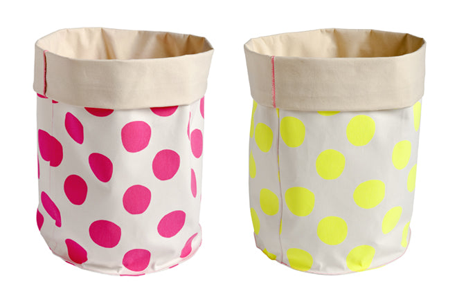 Children's toy and laundry storage baskets by La Cerise sur le Gateau and available from Molly-Meg, published by Bobby Rabbit