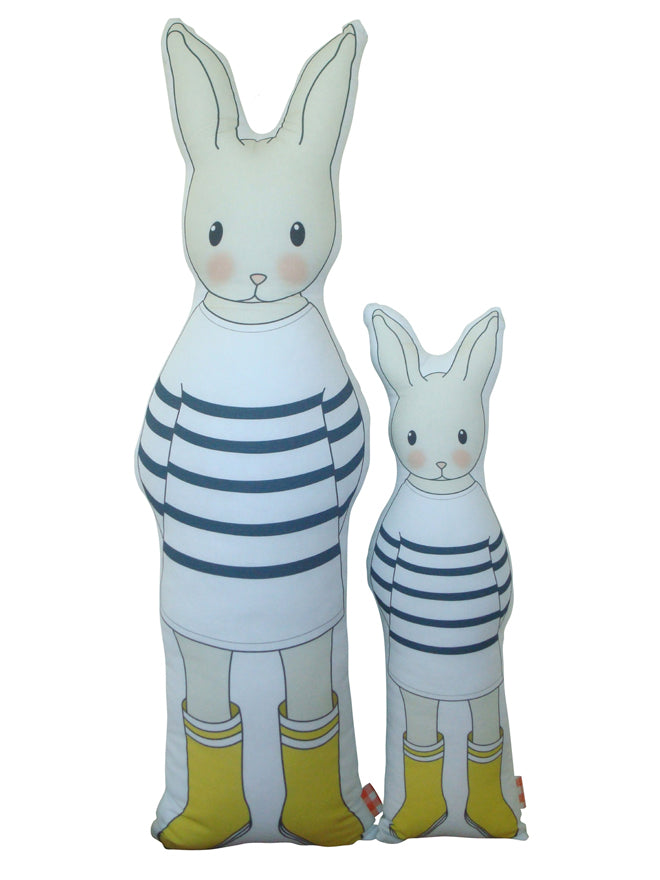 La P'tite Madeleine Bunny Cushions from Molly Meg, published by Bobby Rabbit