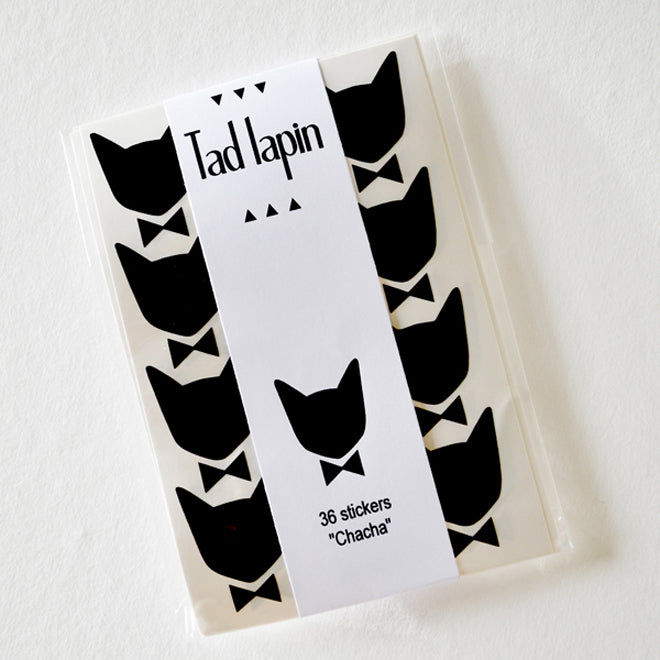 Black cat wall stickers by Tad Lapin, available from Molly-Meg and published by Bobby Rabbit