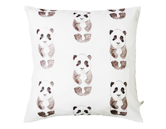 Rebecca Kiff Panda Cushion from Molly Meg, published by Bobby Rabbit