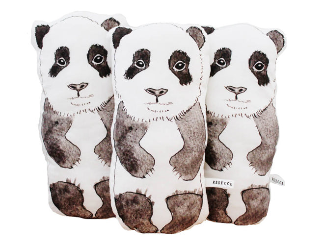 Rebecca Kiff Panda Soft Toy Cushion from Molly Meg, published by Bobby Rabbit