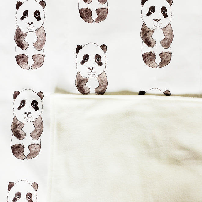 Rebecca Kiff Panda Blanket from Molly Meg, published by Bobby Rabbit
