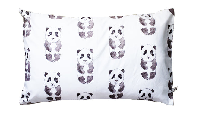 Rebecca Kiff Panda Pillowcase from Molly Meg, published by Bobby Rabbit