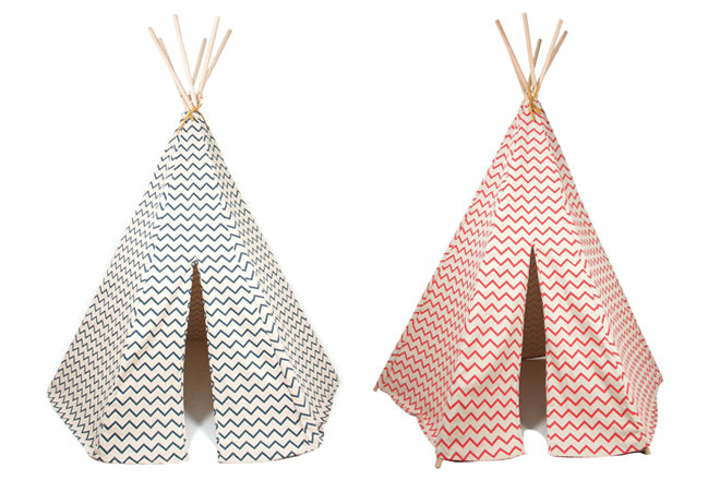 Children's teepee tents by Nobodinoz, available at Molly-Meg, published by Bobby Rabbit