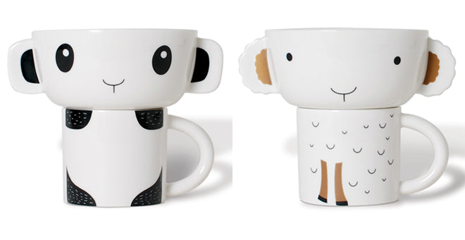 Wee Gallery ceramic stacking bowl and cup set for children, published by Bobby Rabbit