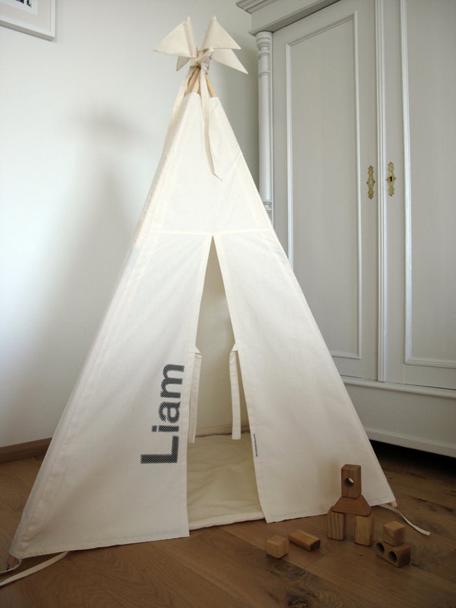 toys, activity toys, tents and dens, teepees, personalised teepee, Moozle Home, published by Bobby Rabbit