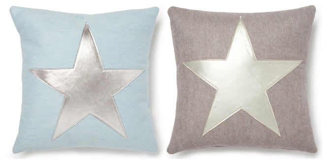 textiles, cushions, children's cushions, star cushions, wool felt cushions, Muusa, published by Bobby Rabbit