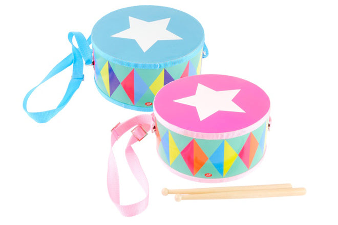 Toy drums, designed by JIP and available from My Shiny Shop, published by Bobby Rabbit