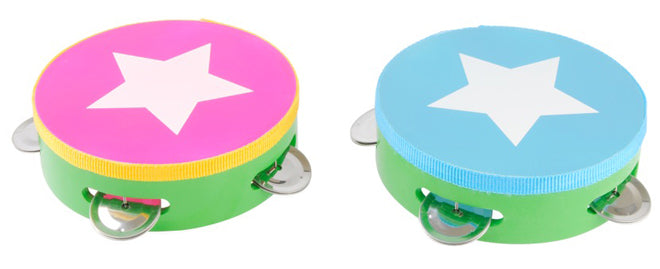 Toy tambourines, designed by JIP and available from My Shiny Shop, published by Bobby Rabbit