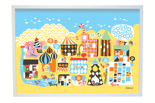 on the wall, wall art, children's wall art, colourful children's wall prints, Littlephant wall art, Northlight, published by Bobby Rabbit