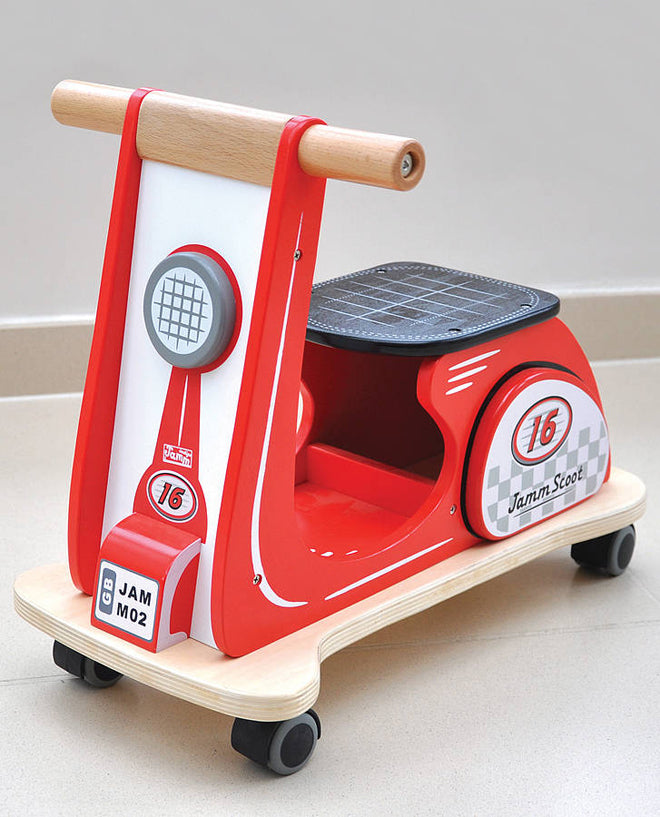 Children's wooden ride-on toy by Jammtoys