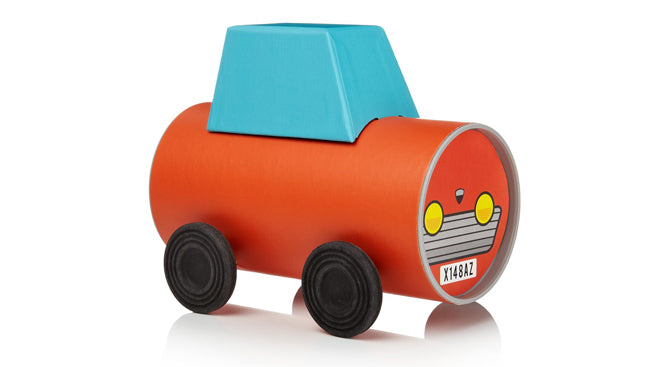 toys, activity toys, craft, make your own tube car, Oscar Diaz, Notonthehighstreet.com, published by Bobby Rabbit