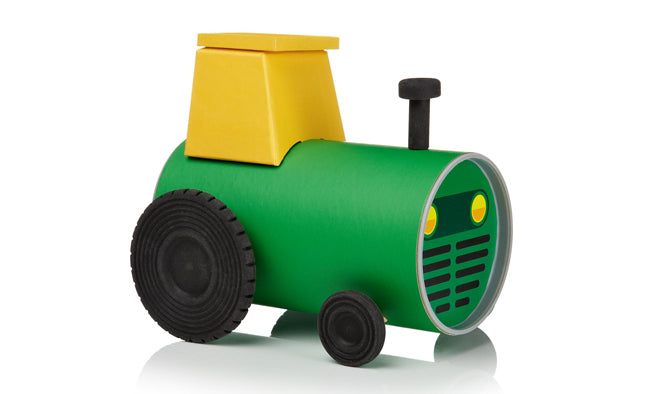toys, activity toys, craft, make your own tube tractor, Oscar Diaz, Notonthehighstreet.com, published by Bobby Rabbit
