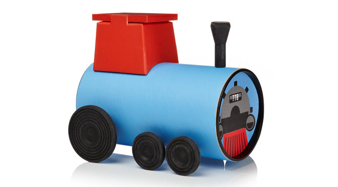toys, activity toys, craft, make your own tube train, Oscar Diaz, Notonthehighstreet.com, published by Bobby Rabbit
