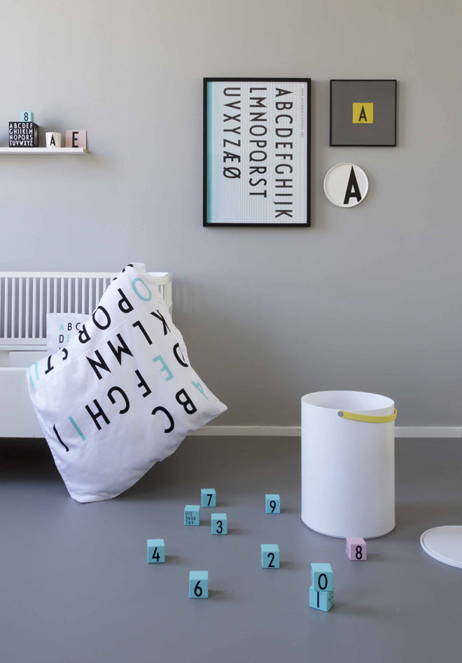 Design Letters Alphabet bedding for children, published by Bobby Rabbit