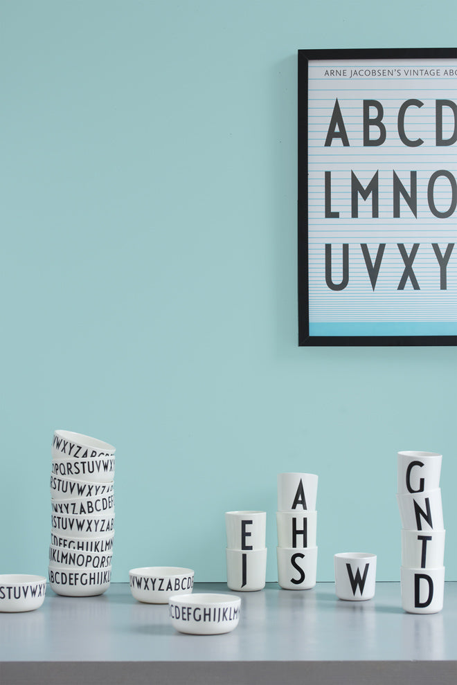 Design Letters Alphabet tableware for children, published by Bobby Rabbit