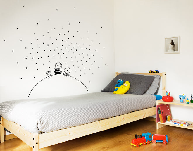 'Stars in the Sky' children's wall stickers by Bumoon and available from Nubie, published by Bobby Rabbit