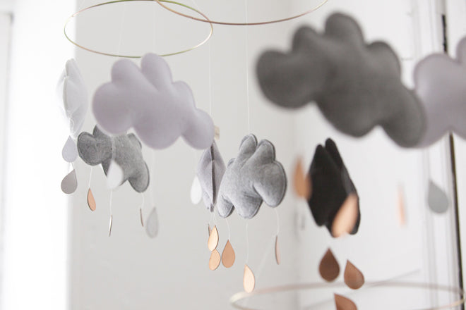 Felt Cloud Mobiles from Nubie, published by Bobby Rabbit