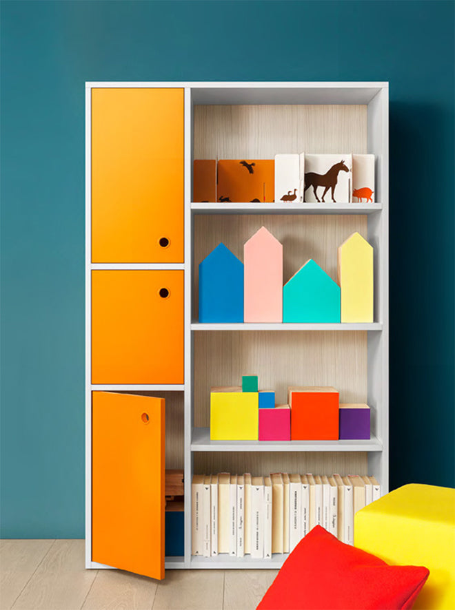 Floor shelving system by Nidi Design, available at Nubie, published by Bobby Rabbit