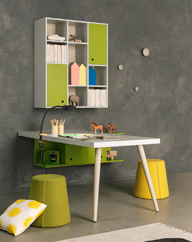 'Woody' children's desk by Nidi Design, available at Nubie, published by Bobby Rabbit