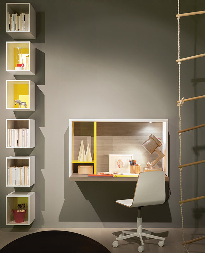 'Yucca' children's desk by Nidi Design, available at Nubie, published by Bobby Rabbit
