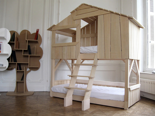 Children's treehouse bed, designed in France by Mathy by Bols and available at Nubie, published by Bobby Rabbit