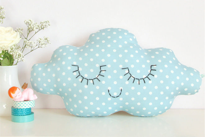 textiles, cushions, children's cushions, cloud cushions, Zu, Petit Home, published by Bobby Rabbit