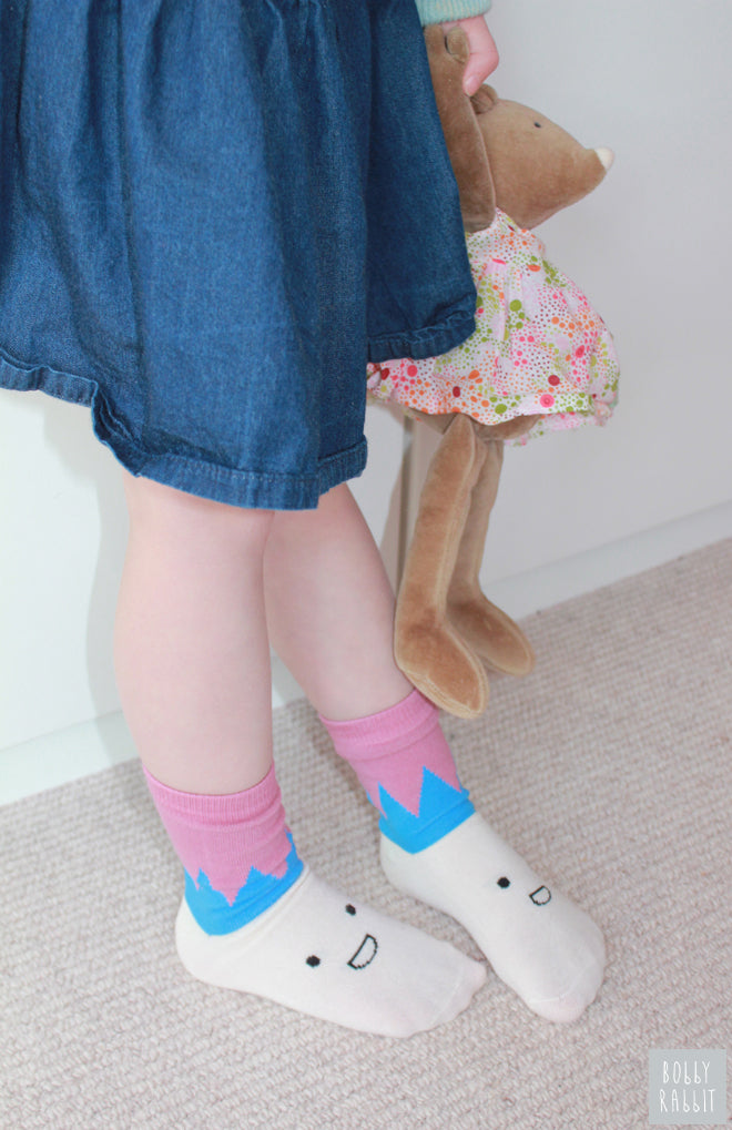 Mix and match super soft socks for babies and children by Petites Pattes, published by Bobby Rabbit