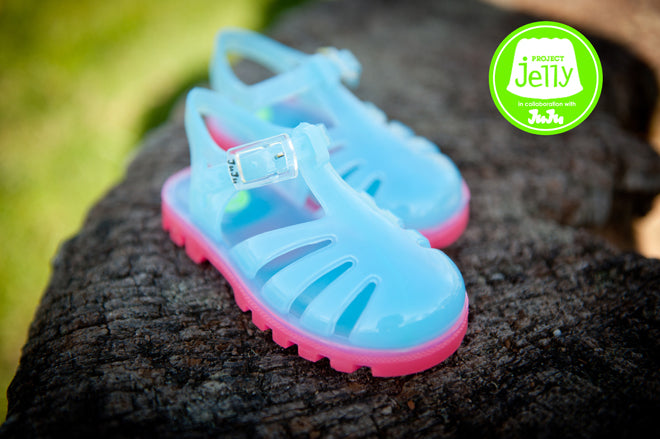 Project Jelly 'Bubblegum Allstar' children's jelly shoes, published by Bobby Rabbit