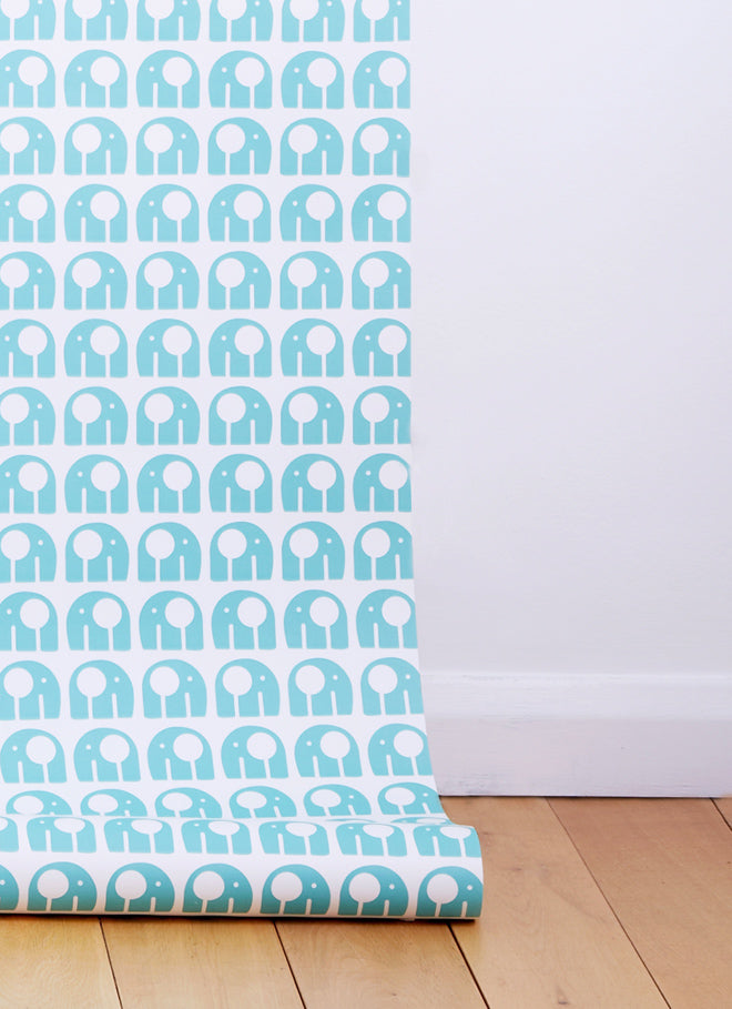 Nelly Wallpaper by Rachel Powell, published by Bobby Rabbit