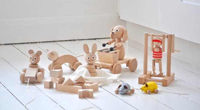 Wooden toys by Sarah & Bendrix, published by Bobby Rabbit