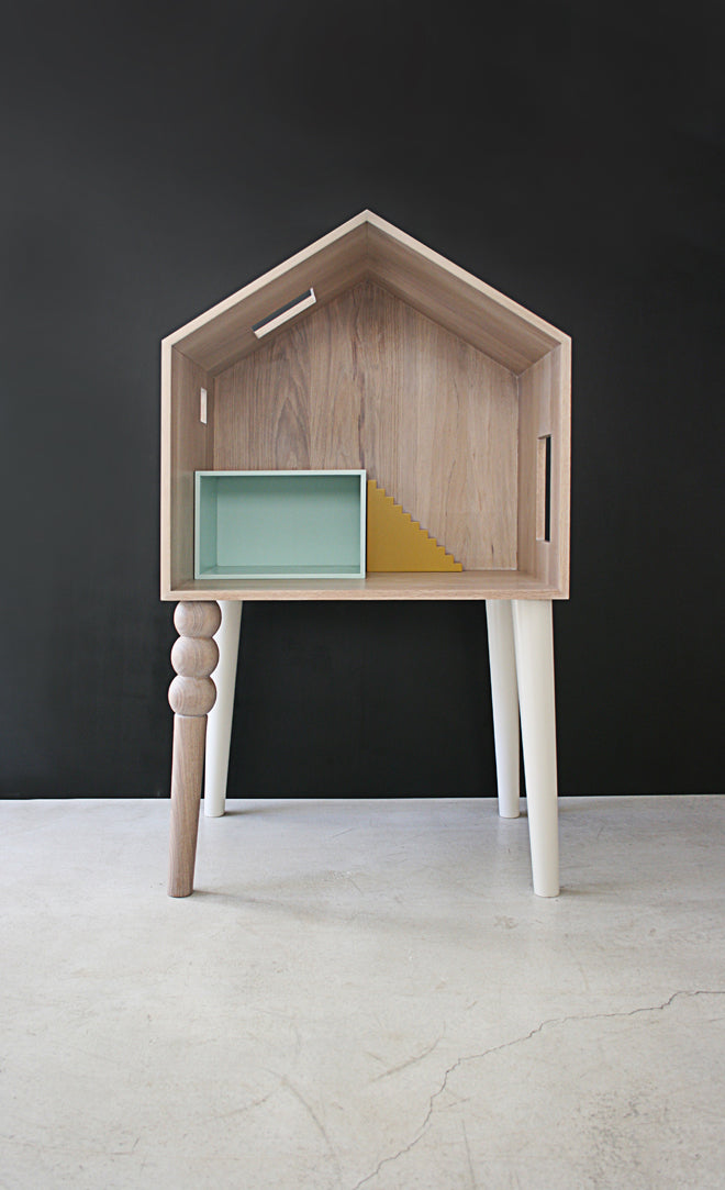 'Lola' dolls house desk, designed in France by Atelier Sans Souci and available from Sisters Guild, published by Bobby Rabbit