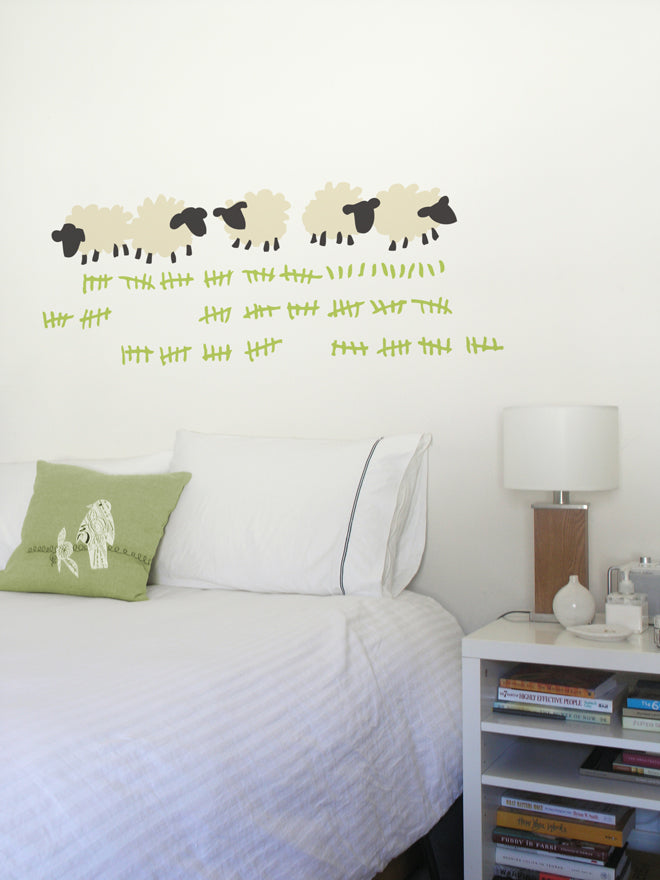 on the wall, wall decals, wall stickers, children's wall stickers, counting sheep wall sticker, Supernice, published by Bobby Rabbit