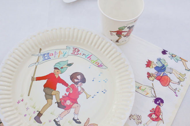 party, childrens party, kids party, party tableware, party plates, party cups, party napkins, Belle and Boo party, Talking Tables, published by Bobby Rabbit