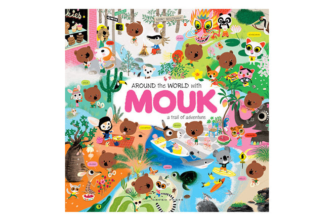 books, story books, bedtime books, Marc Boutavant,  Around the World with Mouk, sticker books, The Kid Who, published by Bobby Rabbit