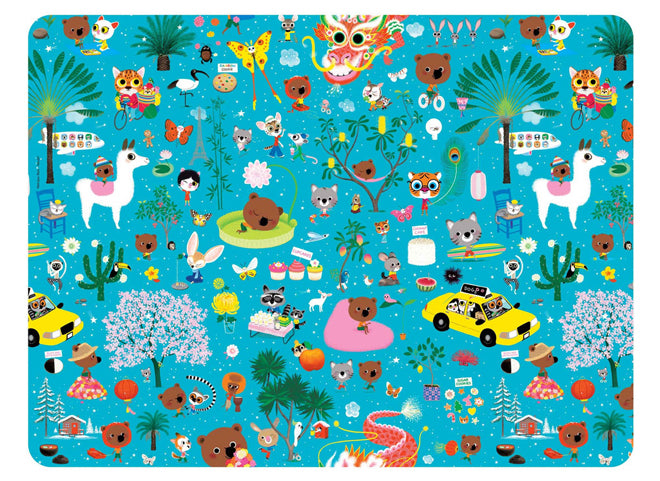 tableware, table accessories, children's placemats, animal placemat, Mouk placemat, Petit Jour Paris, published by Bobby Rabbit