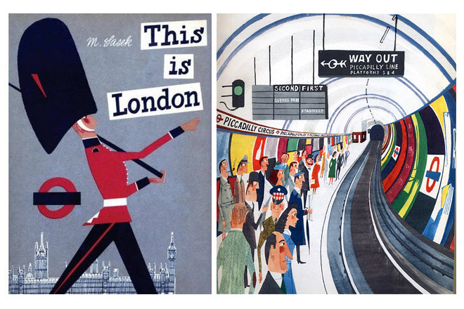 "MIROSLAV SASEK TRAVEL BOOKS ""THIS IS LONDON"" FROM THE KID WHO"