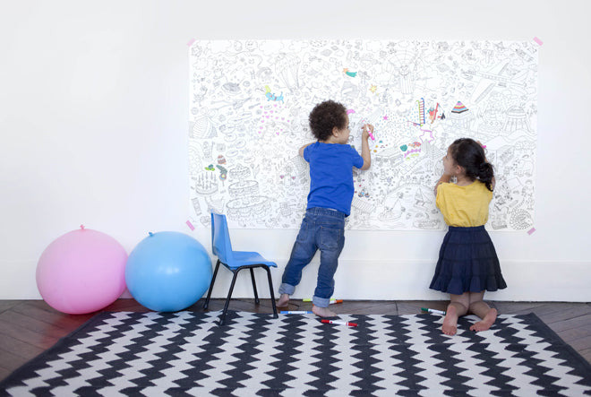 toys, activity toys, colouring-in wall poster, OMY, The Kid Who, published by Bobby Rabbit