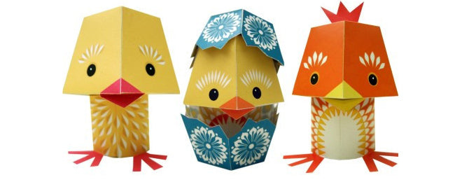 toys, activity toys, arts and crafts, children's crafts, Easter chickens, The Yolk Folk, make your own easter chicks, Mibo, The Kid Who, published by Bobby Rabbit